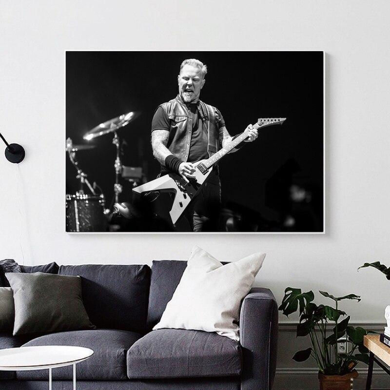 James Hetfield Art impression affiche en soie Art impression photos murales pour salon pas de cadre