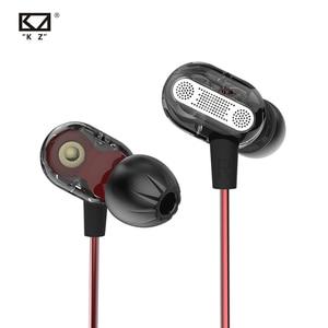Image 1 - KZ ZSE في الأذن سماعة الألعاب الصوت شاشات Hifi الموسيقى سماعات خاصة ديناميكية محرك ثنائي سماعات الرياضة الأزرق سماعات