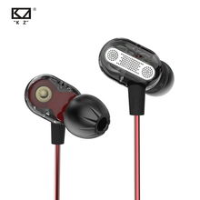KZ ZSE In Ear Gaming Headset Audio Monitors Hifi Music Earphones Special Dynamic Dual Driver Earphone Sports Blue Earbuds