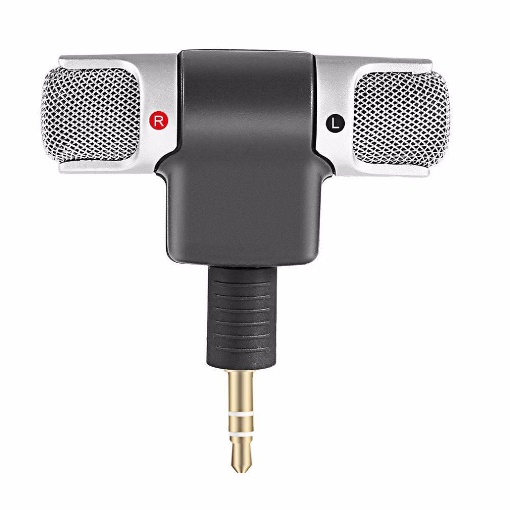 Portable Mini Stereo Microphone Mic 3.5mm Mini Jack PC Laptop Notebook Worldwide Hot Drop Left And Right Channel Stereo Record