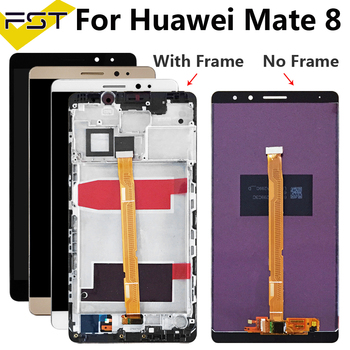100% Tested 6.0''For Huawei Mate 8 LCD Display+Touch Screen Digitizer Assembly With Frame For Huawei Mate8 Spare Parts+Tools