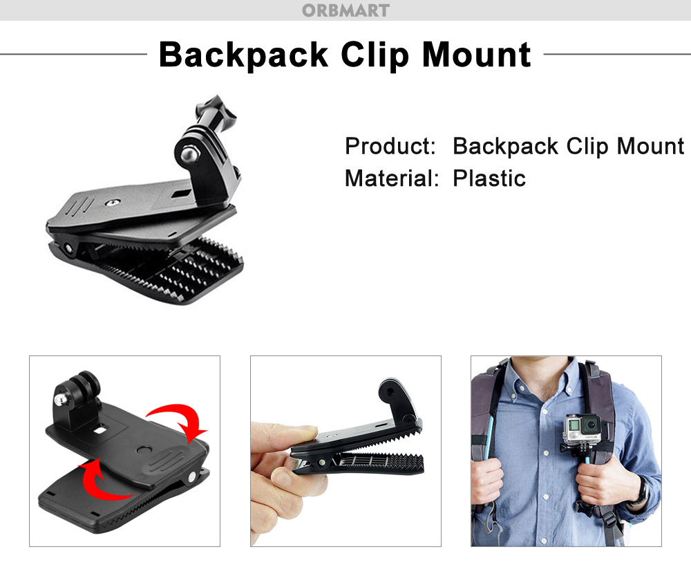 backpack clip mount