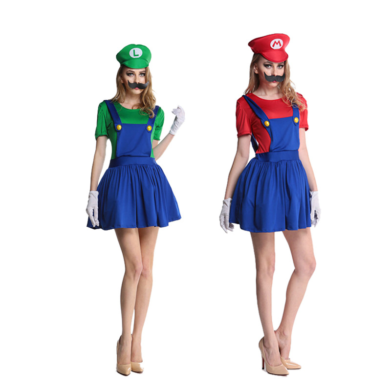 Super Luigi Brother Costume for Kids Halloween Costumes Funny Clothes Ma Cosplay for Boys Girls Fantasia Jumpsuit 4