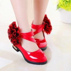 Novo Bebê Outono Meninas Apartamentos Sapatos Da Moda Sapatos de Flores Sapatos Princesa Romana Estilo Dos Miúdos Das Crianças Sapatos de Festa туфли для девочки
