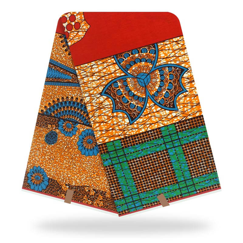 Ankara African Wax Wax Real Wax Wax Fabric Cotton Sewing Dress Material 6yards/One Pieces