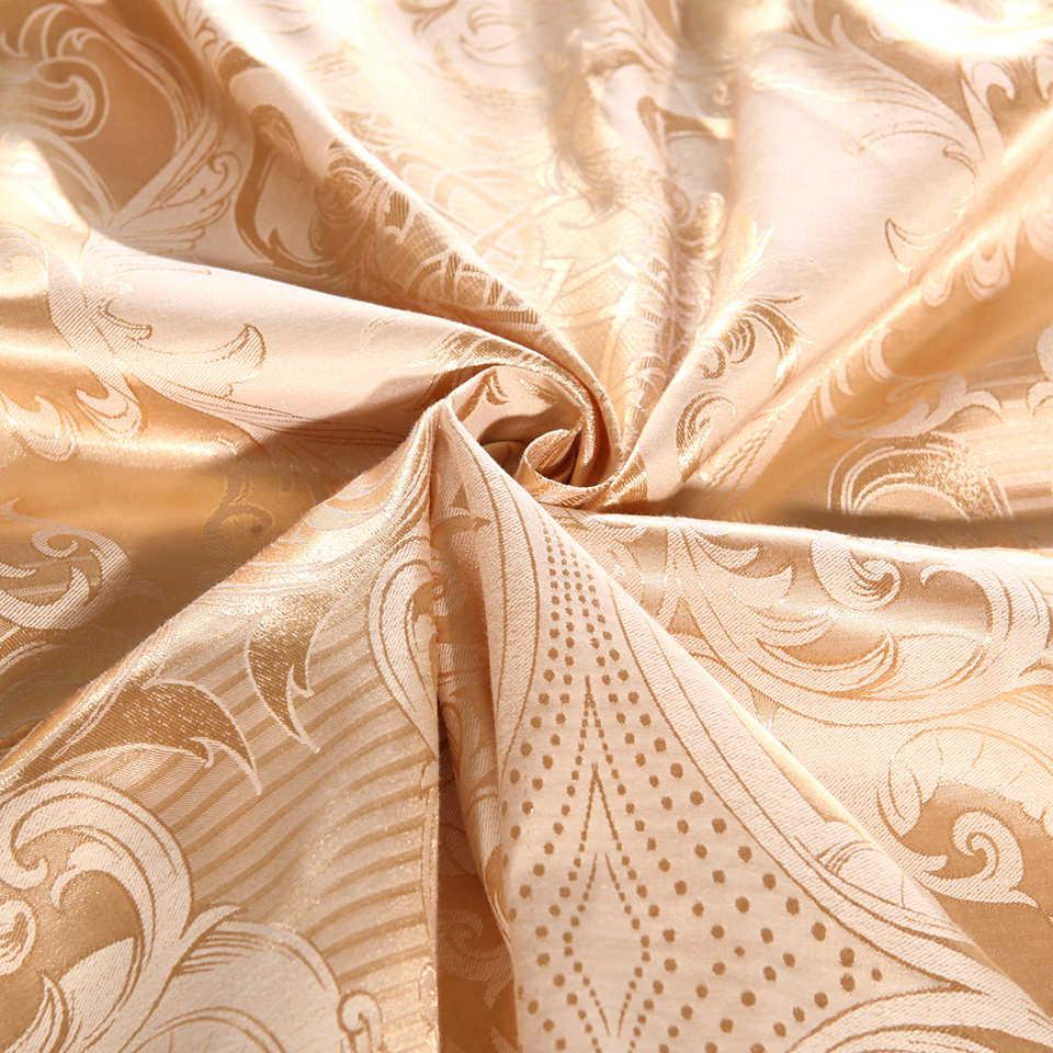 לבן אפור זהב ירוק כחול אקארד משי מצעים שמיכה כיסוי סטי מלך המלכה מלא Twin סט מצעים מיטה בית טקסטיל