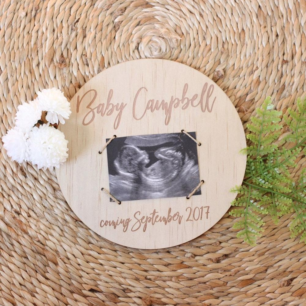 Pregnancy Announcement Plaque,Welcome Baby,Photography Props,Wooden Personalized Announcement Plaque Sign