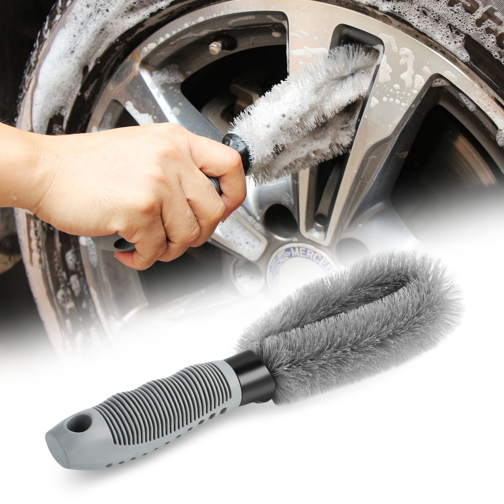 Car Hub Wheel Cleaning Brush Tools Anti wear For Mercedes benz A B C E CLA GLA GLC V M Class W204 W205 W212 W213 W166 W164-in Car Stickers from Automobiles & Motorcycles