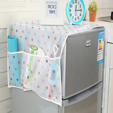free shipping 129cm*54cm dot fridge cover with refrigerator organizer refrigerator cover refrigerator dust cover цены онлайн
