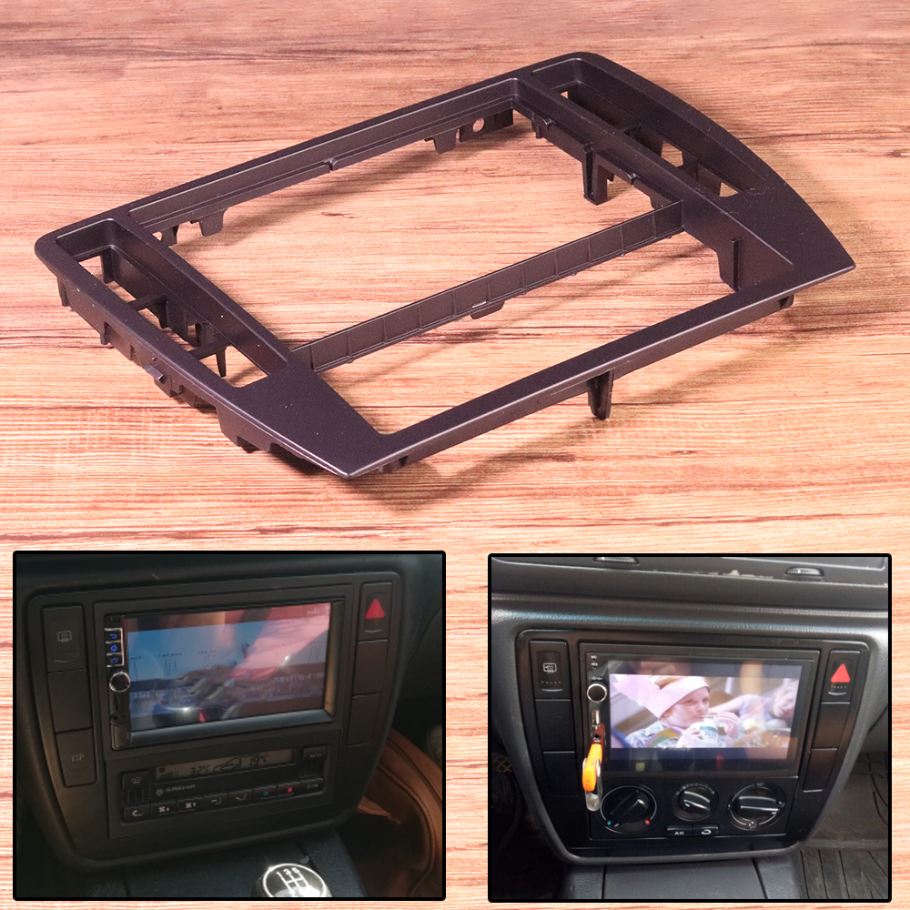 ABS Black Interior Dash Center Console Trim Bezel Panel Radio Face Frame 3B0858069 Fit For VW Passat B5 2001 2002 2003 2004 2005-0