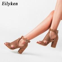Eilyken Summer Women Sandals Gladiator Ankle Buckle Strap Hi