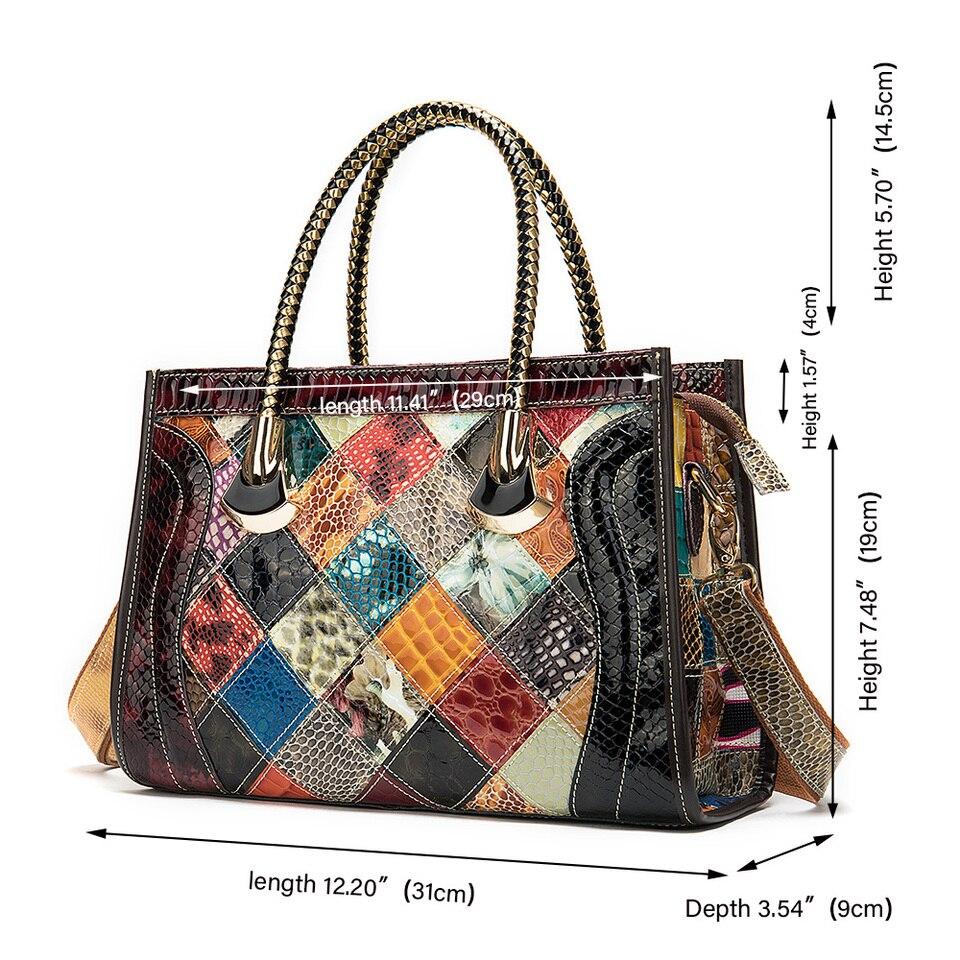 westal femmes en cuir veritable sac grand sac a main patchwork concepteur bandouliere sacs pour femmes sac a main femme sac a main 2020
