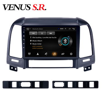 VenusSR Android 8.1 2.5D car dvd for Hyundai Santa FE Radio 2006-2012 multimedia headunit GPS Radio stereo gps navigation image