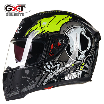 цена на GXT 358 NEW Genuine full face helmets winter warm double visor motorcycle helmet Casco Motorbike capacete