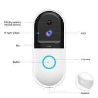 New wireless doorbell wireless WiFi Video Door Bell Home Security Camera Real time Intercom with PIR Motion Detection Door Bell