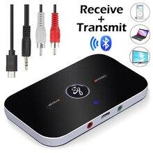 Yükseltme B6 Bluetooth 5.0 verici alıcı kablosuz ses adaptörü PC TV için kulaklık araba 3.5mm 3.5 AUX müzik alıcısı gönderen