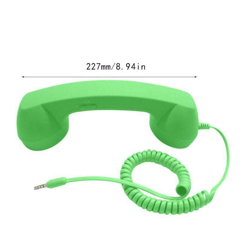 Универсальные Ретро радиационные телефонные наушники для телефонных звонков - Цвет: Зеленый