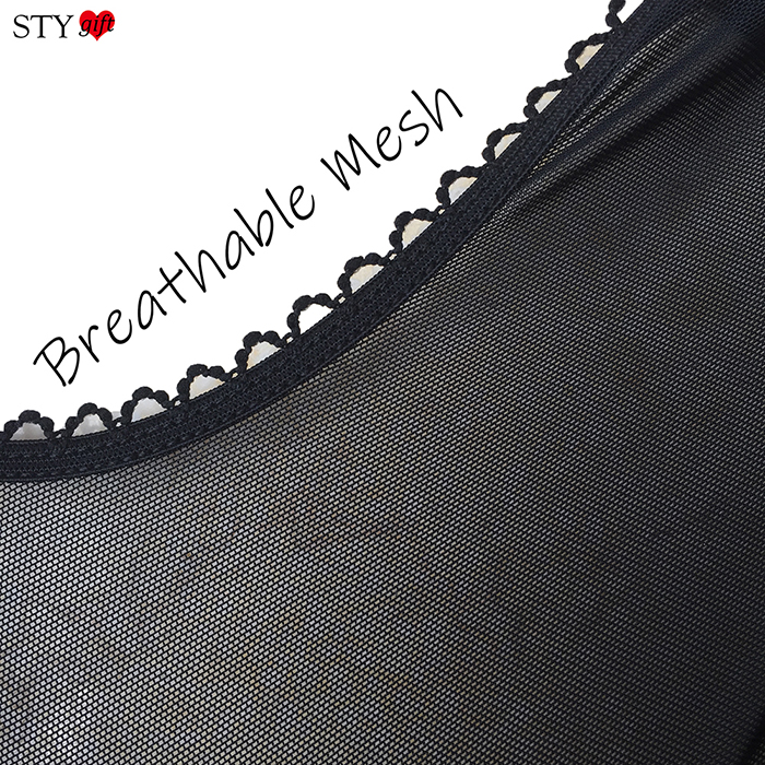Nylon Dreams 6 Strap Power Mesh Suspender Belt