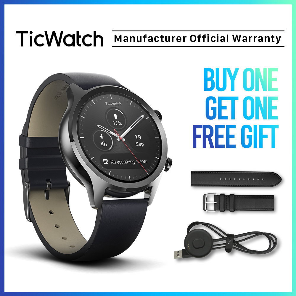 Ticwatch C2 Wear OS Smart Watch Bluetooth GPS Sport Watch IOS&Android Compatible IP68 Waterproof NFC Google Pay Mobvoi Original