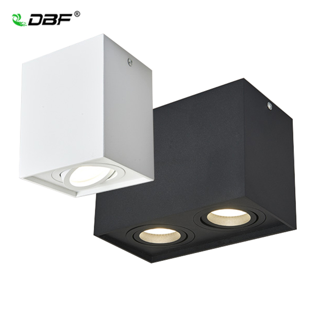 [DBF]Square Angle Adjustable <font><b>LED</b></font> Surface Mounted Downlight with Replaceable <font><b>GU10</b></font> <font><b>LED</b></font> Bulb 5W/7W/<font><b>10W</b></font>/14W <font><b>LED</b></font> Ceiling Spot Lamp image