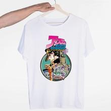 Men's JoJo Bizarre Adventure T-shirt O-Neck Short Sleeves Summer Casual Fashion Unisex Men and Women Tshirt
