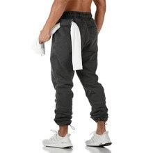 Pantalones de chándal de algodón para hombre, ropa deportiva para deportes al aire libre, para gimnasio, Fitness, para correr, novedad