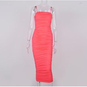 Image 5 - NewAsia Элегантное 2 слойное белое летнее платье для женщин 2020 года, розовое длинное сексуальное вечернее платье для женщин