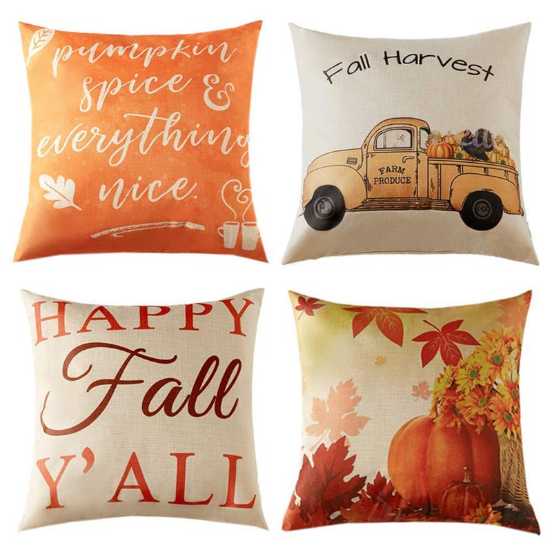 Pillow Covers Autumn Theme Farmhouse
