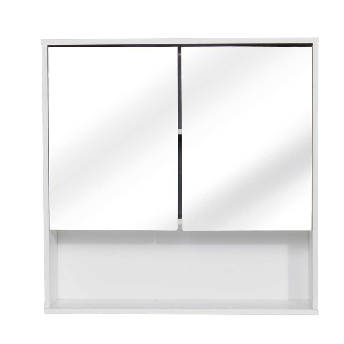 60x60cm Bathroom Cabinet Wall Mounted Bathroom Mirror CabinetsToilet Furniture  Cupboard Shelf Storager Modern Style UK Stock