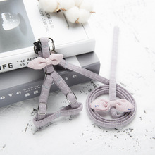 kitten harness pet leash cat harness outdoor walk for small cat puppy chihuahua pet harness leash cat products Adjustable Cat Puppy Collar harness Pet Traction Rope Cat Leash Harness Walking For Cat Chihuahua Poodle Harness Belt Accessorie