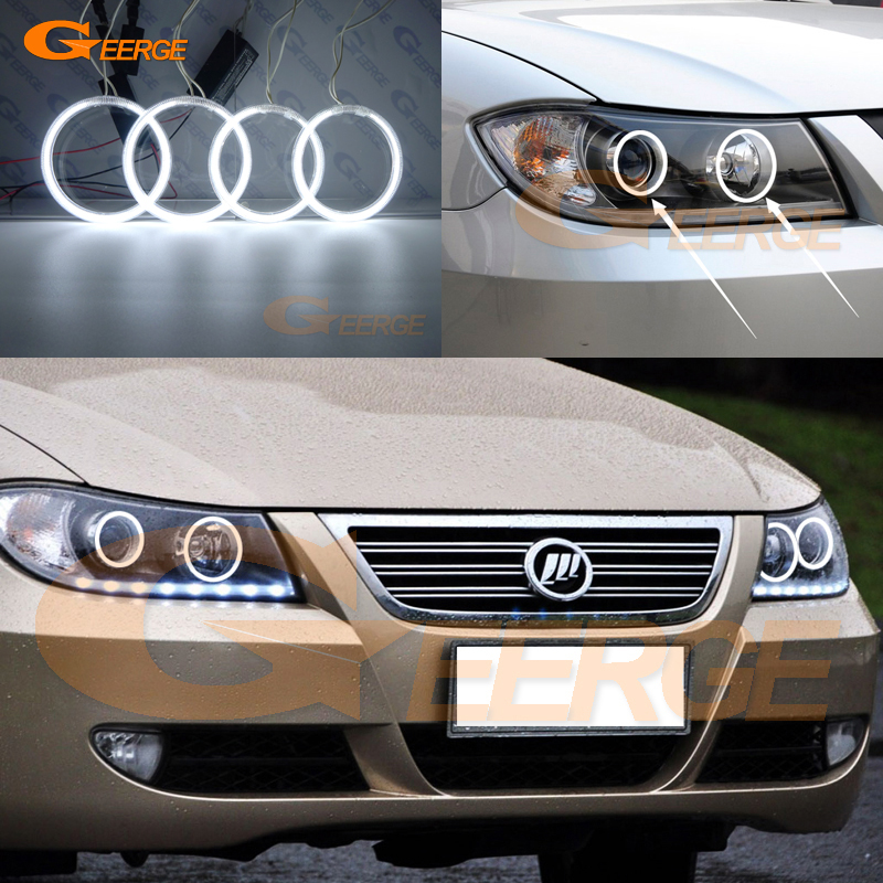For Lifan 620 Solano 2008 2009 2010 2012 2013 2014 Excellent Ultra Bright Illumination CCFL Angel Eyes Kit Halo Ring