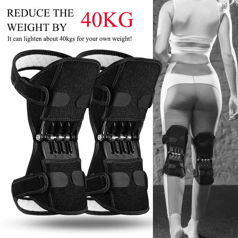 Knee Protector Joint Support Knee Pads Breathable Non-Slip Power Lift Knee Pads Rebound Spring Force Knee Booster Tendon Brace