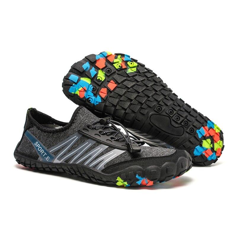 Jogging Sneakers Lightweight Water Shoes Outdoor Sports Breathable Aqua Shoes Trekking Hiking Shoes Upstream Men Women Climbing