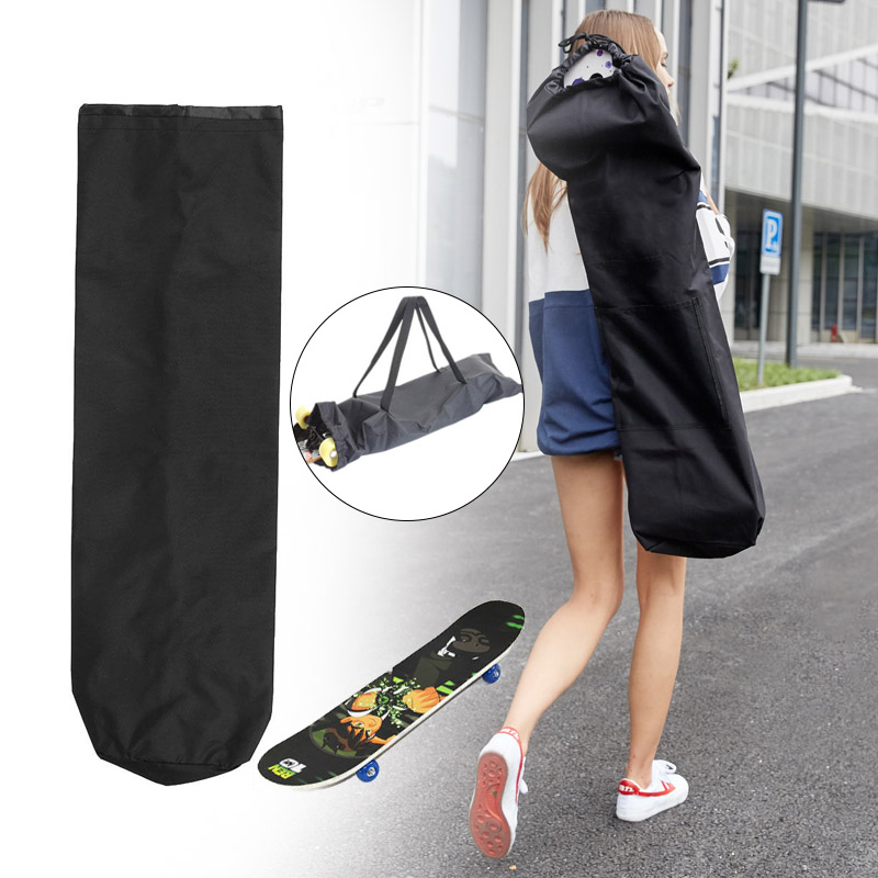Waterproof Black Longboard Backpack Skateboard Carry Bag Dance Board Drift Board Travel Longboard Rucksack Skateboard Bag