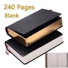 Gruby papier notatnik notatnik skórzany biblia pamiętnik personalizowany książka czasopisma Agenda Planner szkolne materiały biurowe Cuaderno