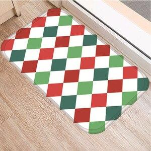 Image 5 - Геометрический узор решетки нескользящий декоративный ковер для спальни кухонный пол для гостиной коврик для ванной нескользящий коврик 40x60 см.