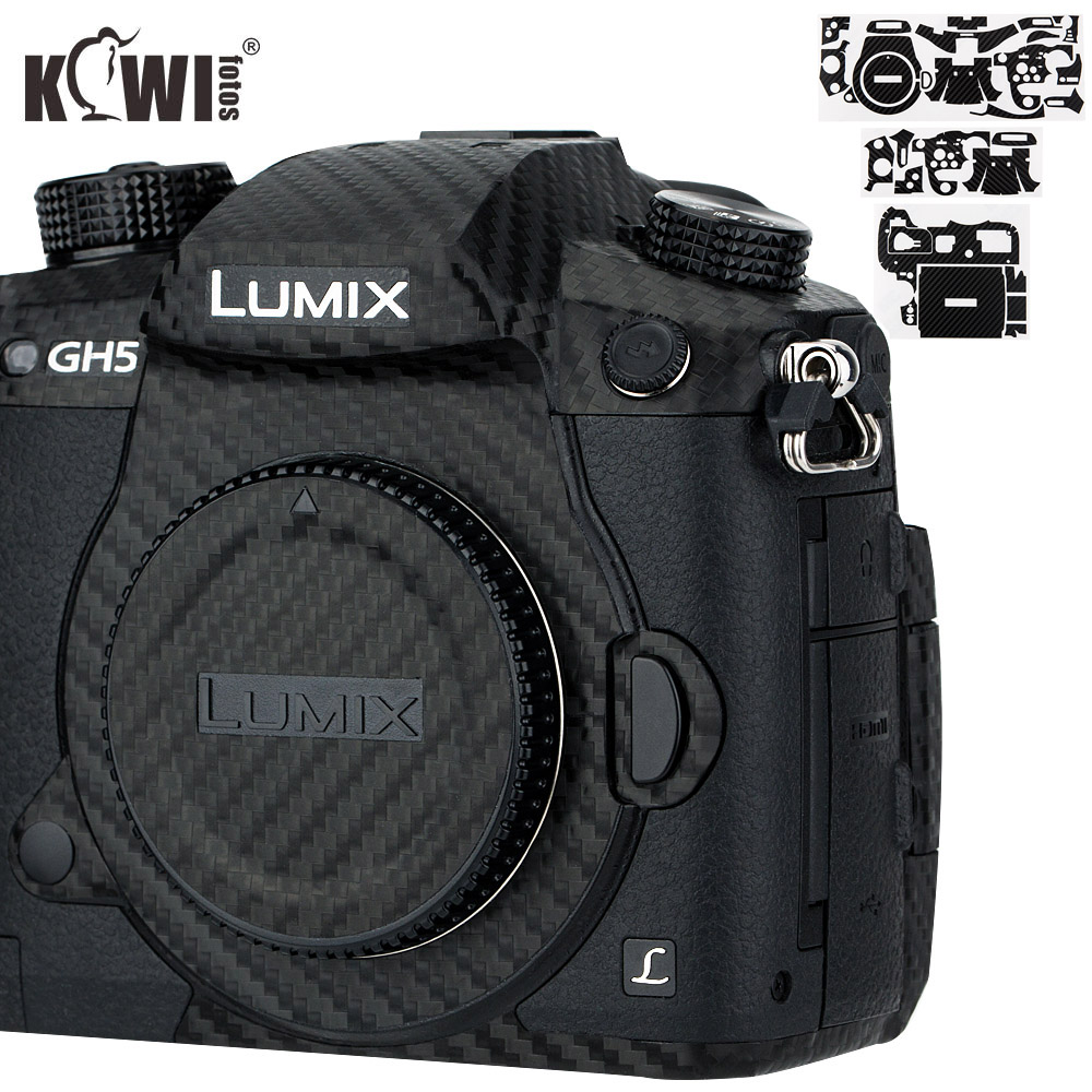 Kiwi Anti-Scratch Camera Body Cover Skin Protector For Panasonic Lumix DC-GH5 GH5 Camera Anti-Slide 3M Sticker Carbon Fiber Film