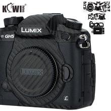 Kiwi Anti Scratch Protetor de Pele Da Tampa Do Corpo Da Câmera Para Panasonic Lumix DC GH5 GH5 Câmera Anti Slide 3M adesivo Filme De Fibra De Carbono