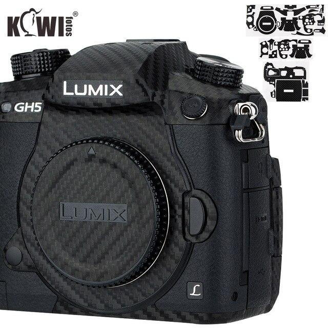 Kiwi Chống Trầy Xước Bao Da Máy Ảnh Da Bảo Vệ Cho Máy Ảnh Panasonic Lumix DC GH5 GH5 Camera Chống Trượt 3M miếng Dán Vân Carbon Phim