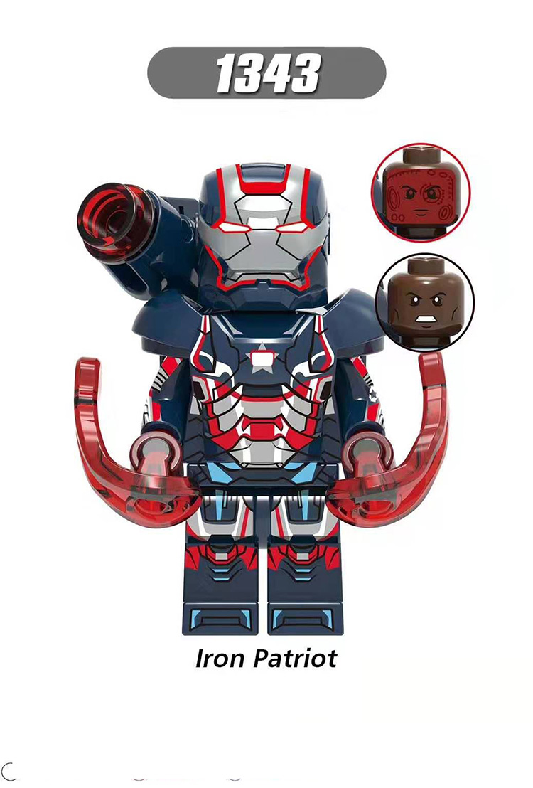 Single Sale LegoINGlys Super Heroes Figure Iron Man Mark45 Uitron Legions Iron Patriot Brick Dolls Toy Best Brithday Gift XH1343