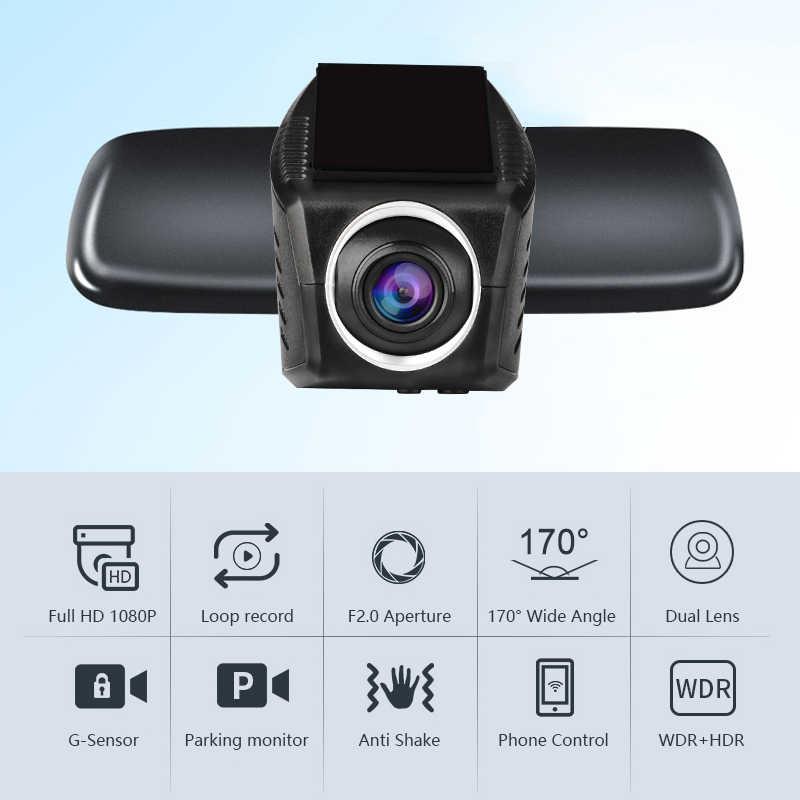 Автомобильный видеорегистратор Мини Wifi Автомобильная камера Full HD 1080P Dash Cam видеорегистратор Автомобильный видеорегистратор видеокамера двойной объектив dvr ночная версия