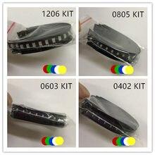 5x20 pièces/couleur = 100 pièces nouveau 1206 0805 0603 rouge/vert/bleu/blanc/jaune kit de LED SMD