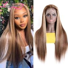 Чистый цветной бразильский парик TL412 с прямыми T-образными частями, 150% плотный парик из человеческих волос с двойным U-образным плетением, дл...