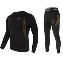 winter new men thermal underwear sets compression fleece swe