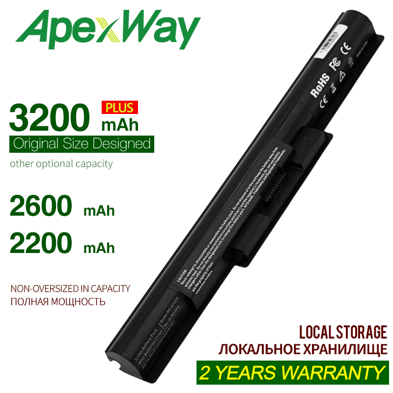 ApexWay Laptop Battery For Sony BPS35 VGP-BPS35 VGP-BPS35A For VAIO Fit 14E VAIO Fit 15E Series