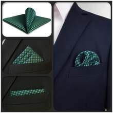 Fh24 зеленого и синего цвета с рисунком «гусиные лапки» мужской