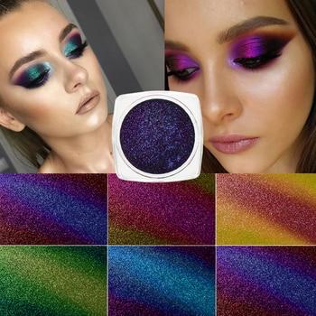 1 Box  Eyeshadow Glitter Chrome Eyeshadow Palette Powder Pigment Shiny Metallic Loose Eye Shadow Makeup Waterproof