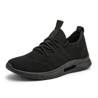 New Arrivals Men's Sport Shoes High Quality Fashion Flyknit Breathable Mesh Adult Casual Men Sneakers Wear resisting Men Shoes