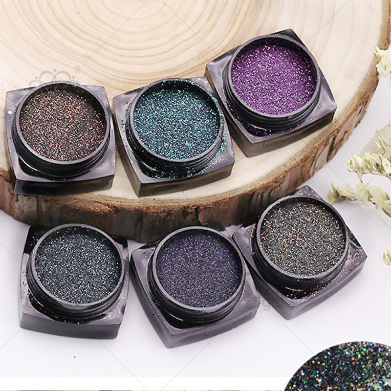 6 Pcs/set Manicure Nail Art DIY Crystal Epoxy Bright Gradient Glitter Sequin Luxury Quicksand Powder