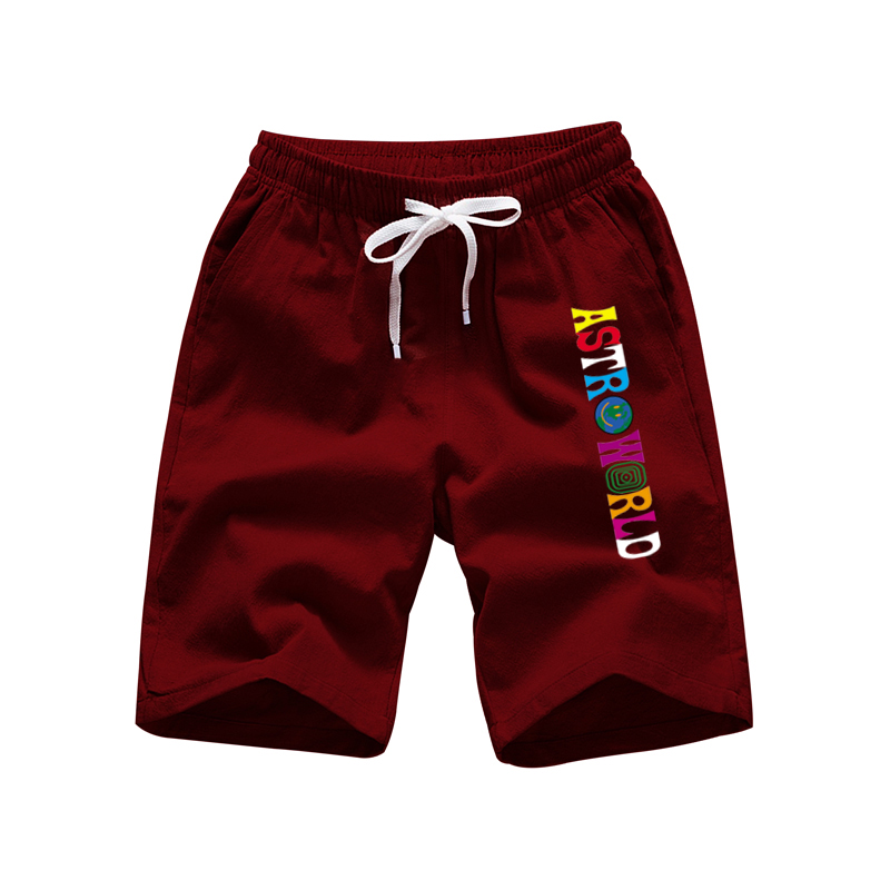 2020 Men's Casual Shorts ASTROWORLD Fashion Spring And Summer Men's Beach Sports Pants Fitness Fitness Men's Printed Shorts
